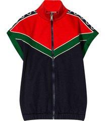 gucci multicolor sweatshirt with frontal zip