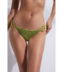 calzedonia string swimsuit bottom cannes woman green size 4