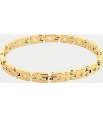 tommy hilfiger women's gold-plated adjustable bracelet gold -