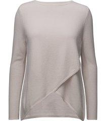 wrap front sweater gebreide trui roze davida cashmere
