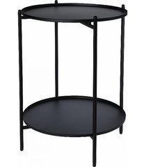 stolik kawowy dwupoziomowy czarny mat