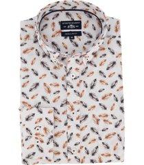 overhemd state of art donkerblauw oranje veren