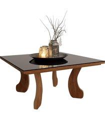 mesa centro 8010 luxo caramelo madeirado móveis jb bechara