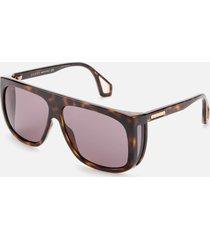 gucci men's injection square frame sunglasses - havana/grey