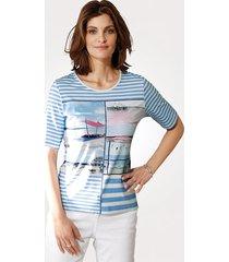 shirt rabe blauw::wit::pink