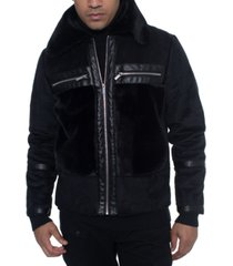 sean john men's fleece trimmed bomber jacket, created for macy's