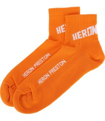 heron preston heron preston logo short socks
