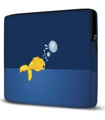 capa para notebook fish sleeping 15 polegadas - azul - dafiti