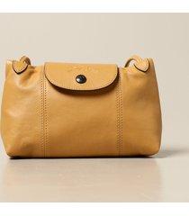 longchamp handbag le pliage cuir longchamp shoulder bag in leather