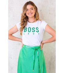 boss lady top bright green