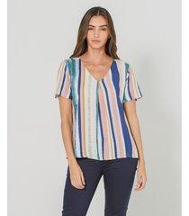 camisa con estampados en contraste