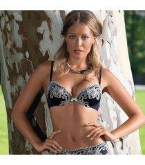 ambra lingerie bhs titanium push up bh blauw t438