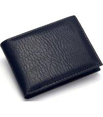 billetera hombre corta cuero pu clásica 8064 negro