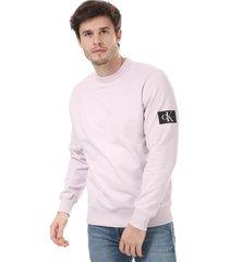mens monogram badge sweatshirt