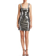 chrome mini sheath dress