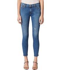 hudson women's mid-rise super skinny jeans - ultra life - size 32 (10-12)