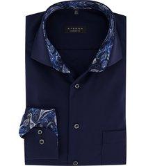 eterna overhemd mouwlengte 7 comfort fit navy