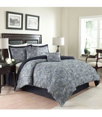 traditions by waverly 6 piece paddock shawl comforter set, king bedding