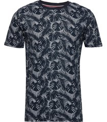 aop tee t-shirts short-sleeved blå lindbergh