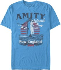 jaws men's amity island destination short sleeve t-shirt