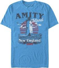 jaws men's amity island destination short sleeve t-shirt