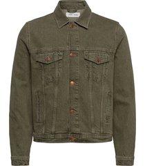 laust jacket 12717 jeansjack denimjack groen samsøe samsøe