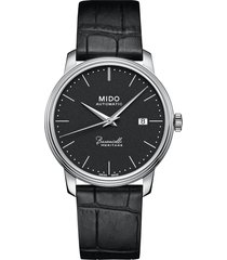 mido baroncelli heritage automatic leather strap watch, 39mm