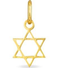 ciondolo in oro giallo stella di david per unisex