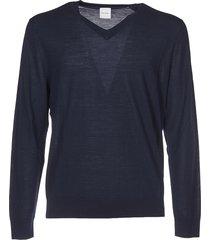 v-neck pullover in dark blue