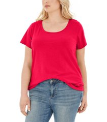 aveto trendy plus size scoop-neck t-shirt