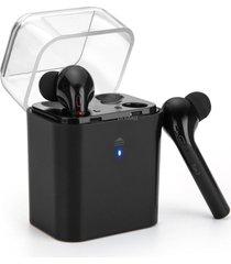 audífonos bluetooth inalámbricos estéreo con caja de carga - negro