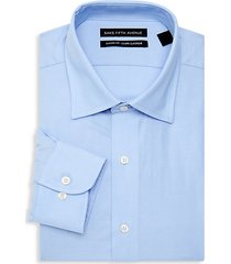 classic-fit solid dress shirt