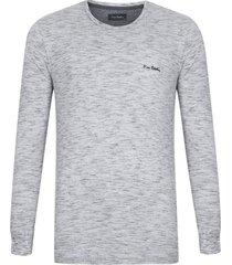 camiseta manga longa cinza mescla partner - kanui