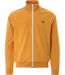 fred perry taped track top | gold | j6231-909