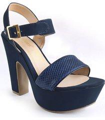 calzado dama tacon 7 1/2 azul 182754azul