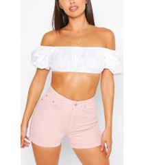 shorts met oprolbare zoom, roze