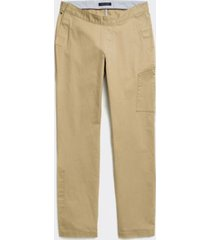tommy hilfiger men's adaptive seated fit classic chino vintage khaki - 36