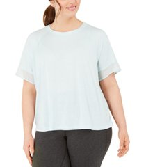 ideology plus size sheer-cuff t-shirt, created for macy's