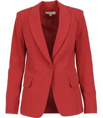 michael kors fitted bttn blazer