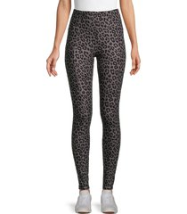 kendall + kylie women's soft leopard-print leggings - grey - size l