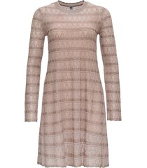m missoni flred dress in lurex knit with zig-zag pattern