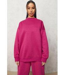 basic oversized sweater, pink