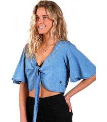 blusa top jeans blue raindoor