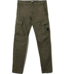 garment geverfd stretch satijn ingericht lens pocket cargo broek