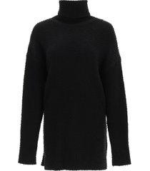 sportmax angora and wool turtleneck pullover