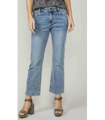 summum 4s2150-5082 bootcut cropped jeans twill stretch denim