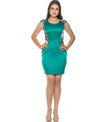 vestido celestine curto verde