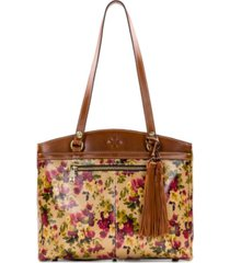 patricia nash antique rose poppy leather tote