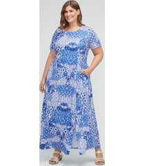kaleidoscope sky maxi dress (with pockets)