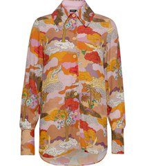 james, 843 dreamscape viscose blouse lange mouwen multi/patroon stine goya
